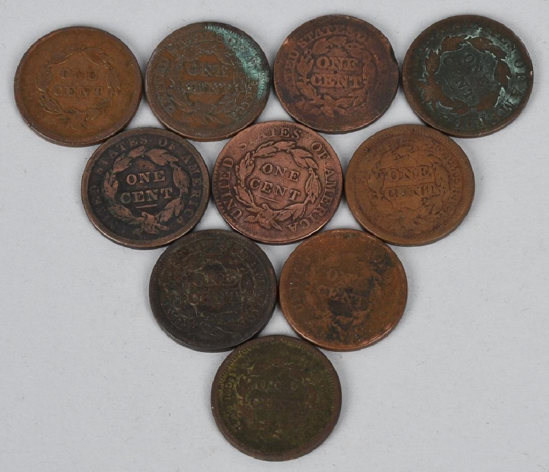 10- US LARGE CENTS 1818-1854 - 2