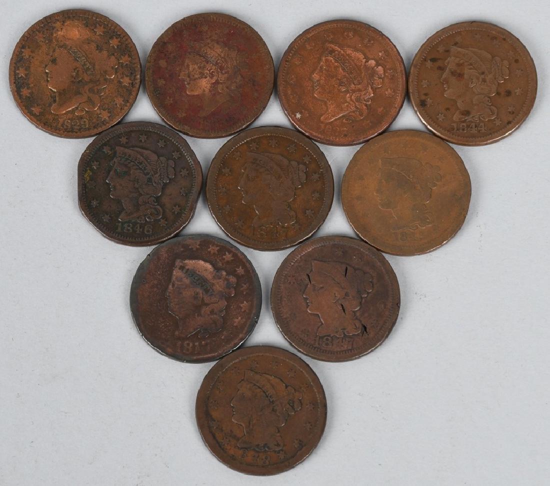 10- US LARGE CENTS 1817-1848