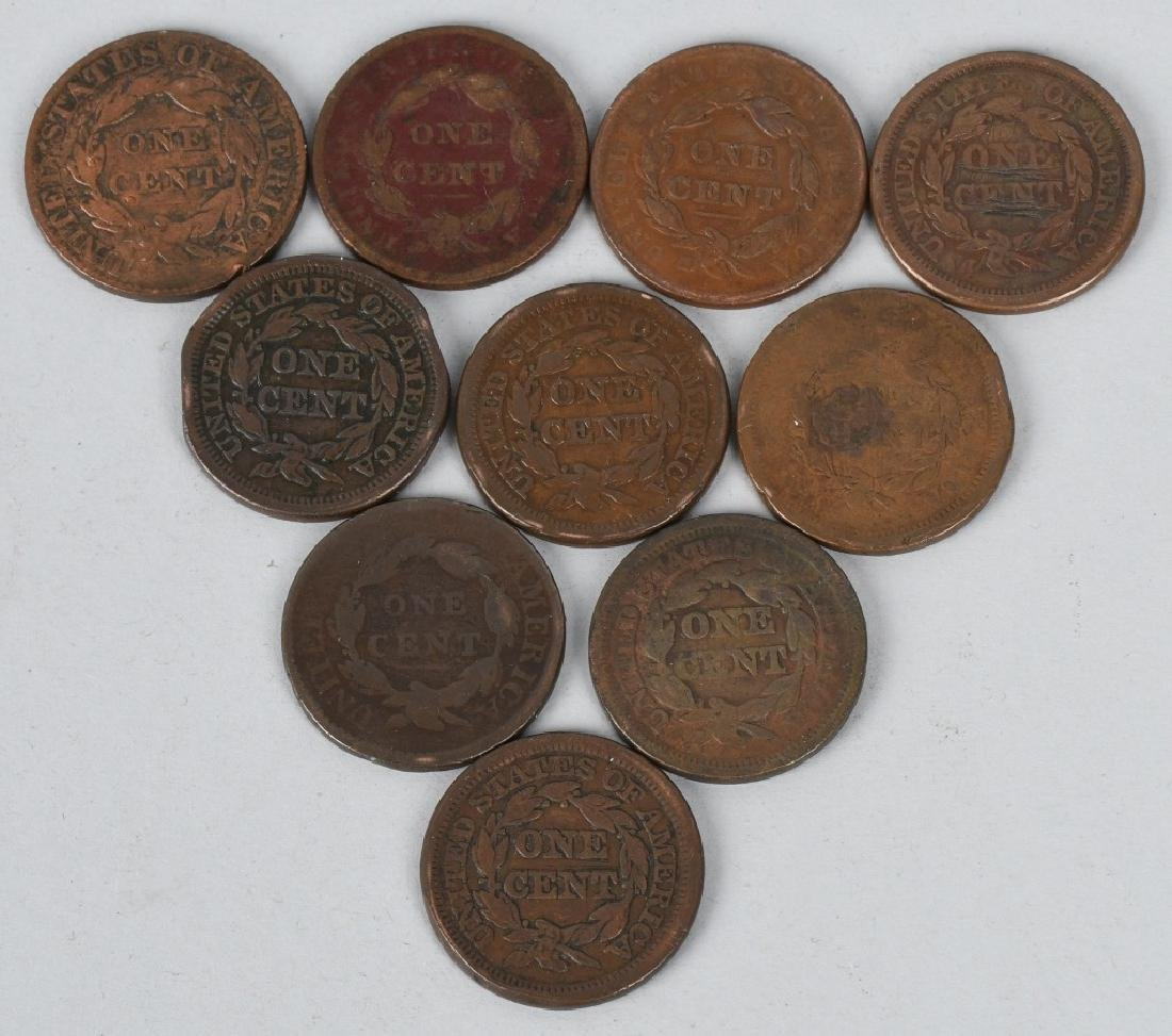 10- US LARGE CENTS 1817-1848 - 2