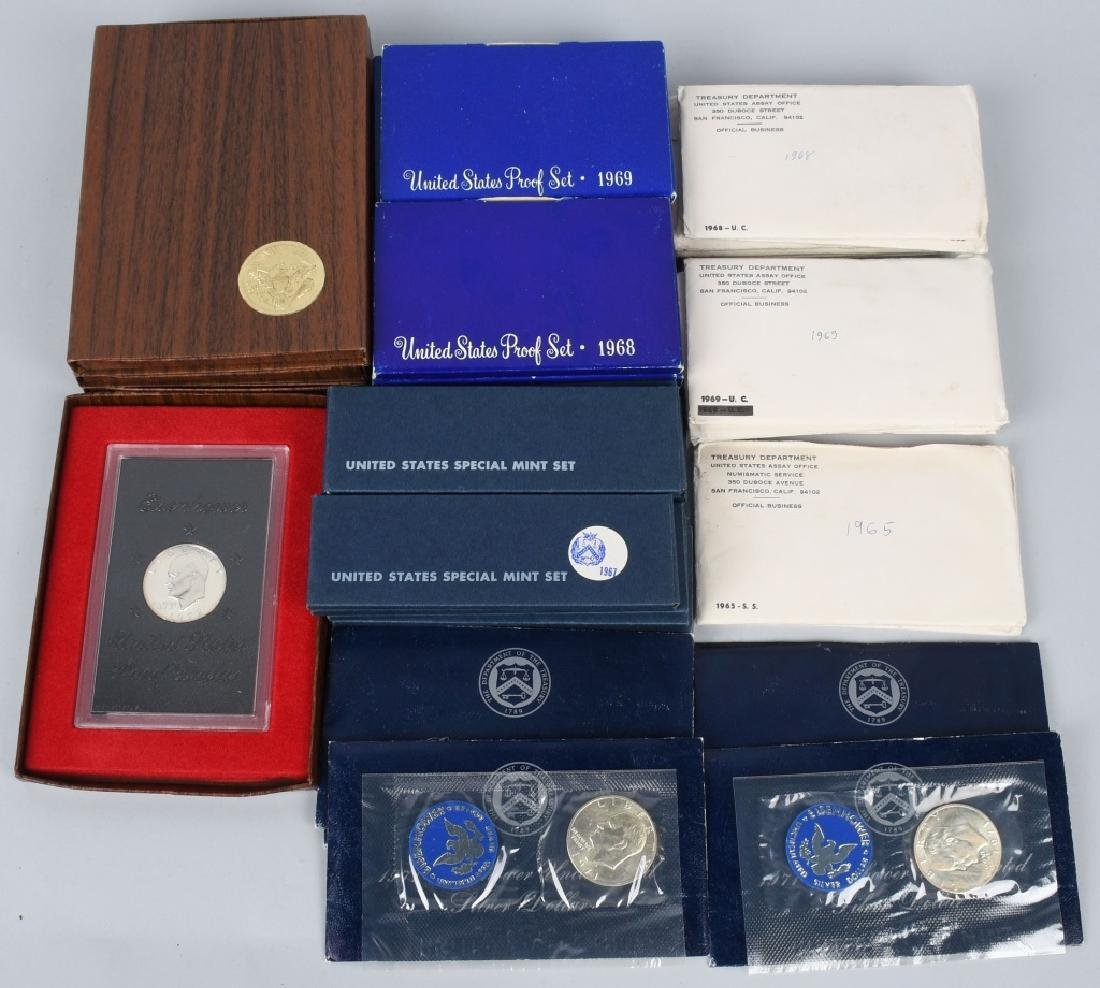 LARGE LOT OF 40% US SILVER PROOF AND MINT SETS
