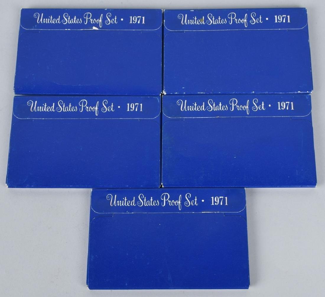 LARGE LOT OF US PROOF & MINT SETS 1970-73 - 4