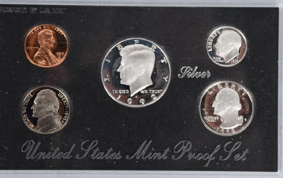 8-90% SILVER PROOF SETS, 1992-1996 - 3
