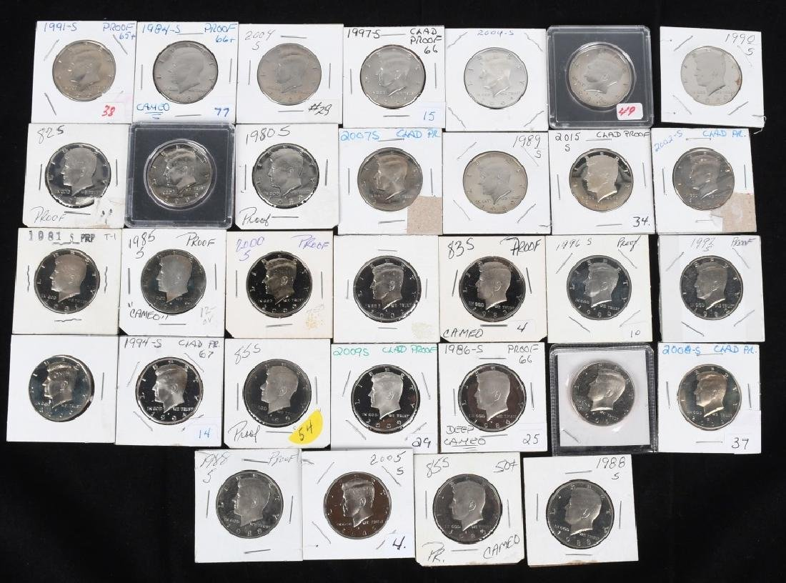 32-PROOF KENNEDY HALF DOLLARS 1981-2015