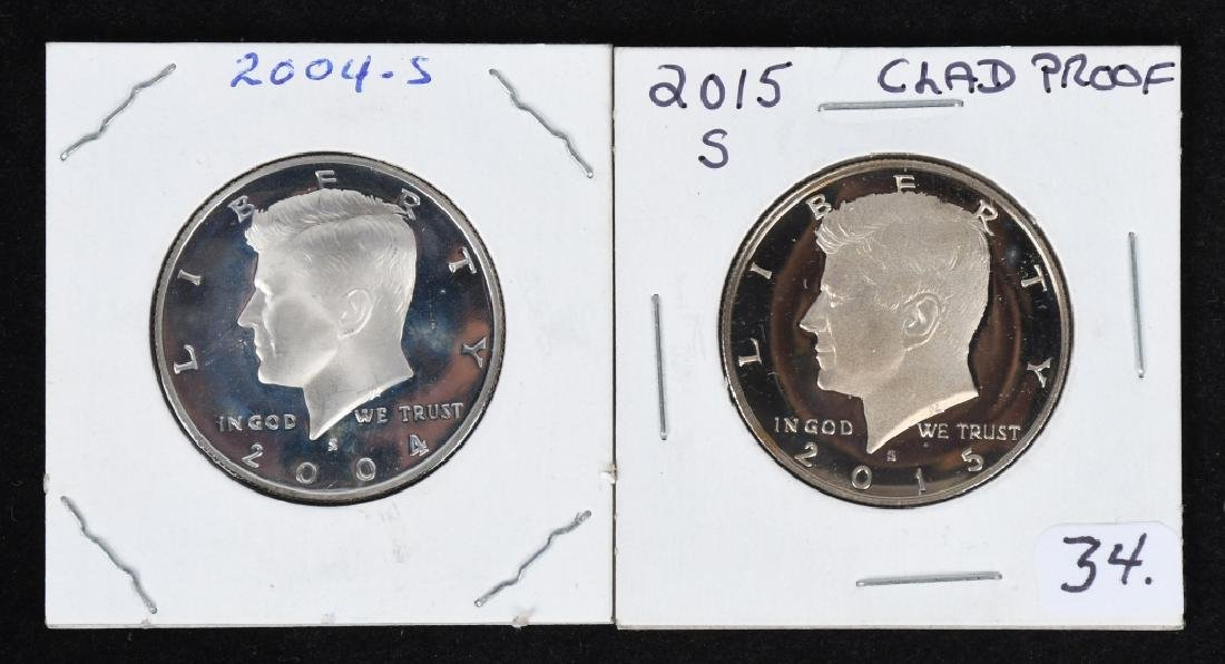 32-PROOF KENNEDY HALF DOLLARS 1981-2015 - 5