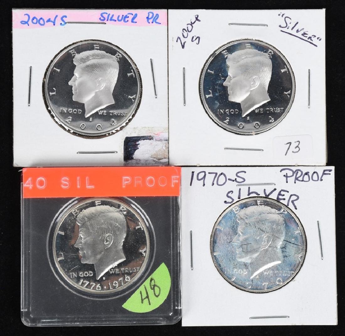 18-SILVER KENNEDY HALF DOLLARS, 1968-2006 - 2
