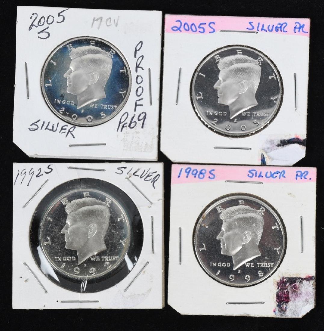 18-SILVER KENNEDY HALF DOLLARS, 1968-2006 - 3