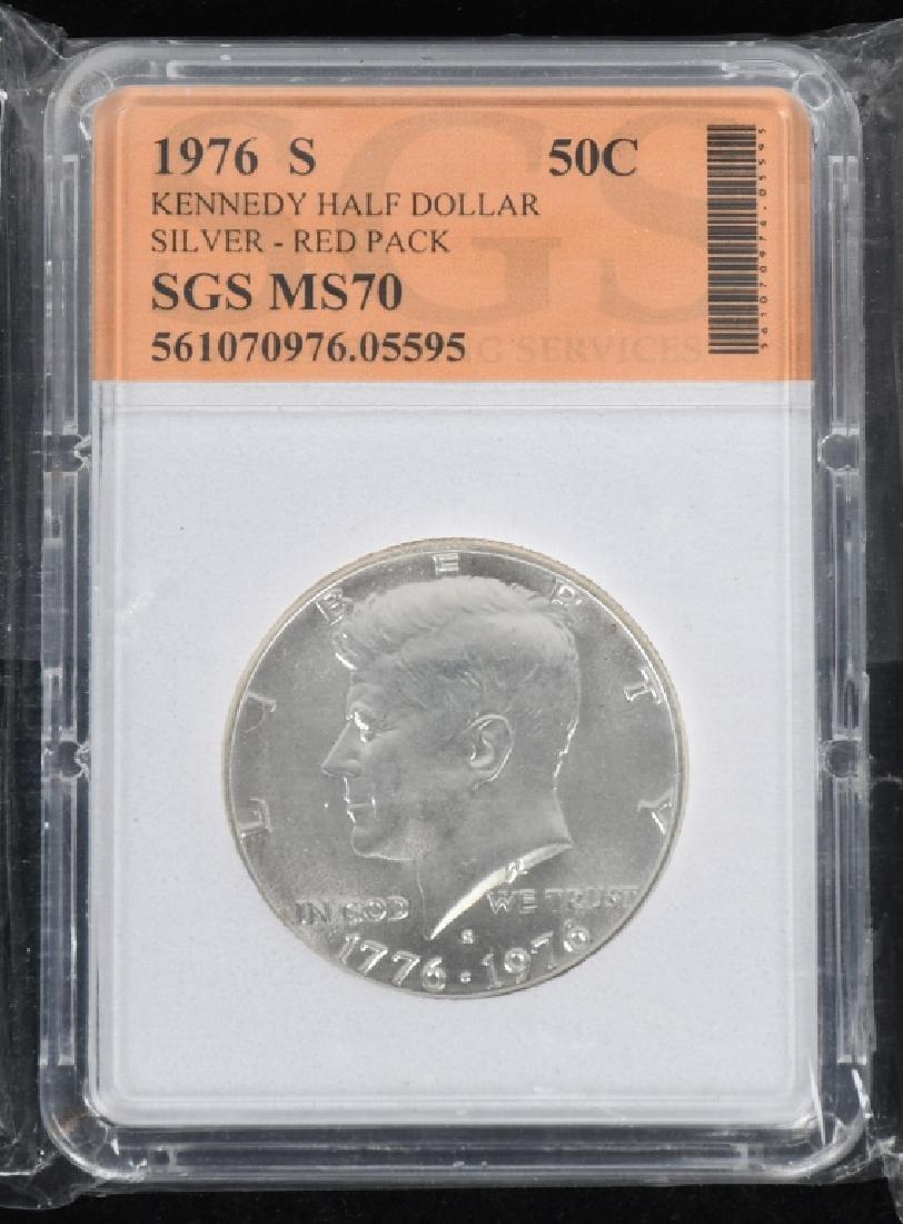 18-SILVER KENNEDY HALF DOLLARS, 1968-2006 - 4