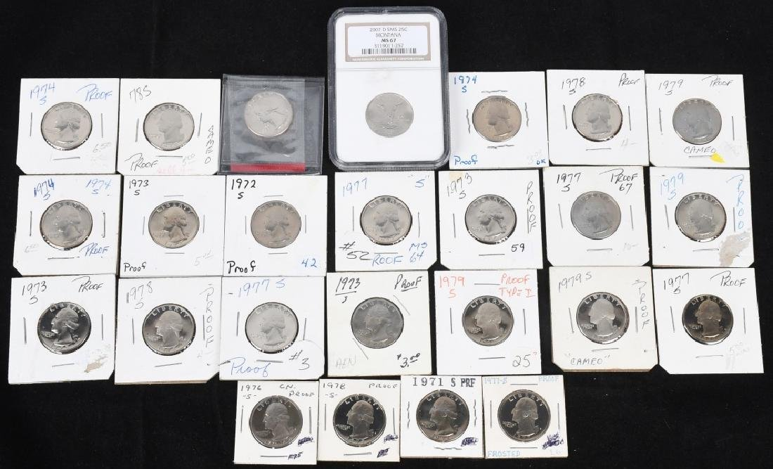 25-PROOF WASHINGTON QUARTERS 1971-2007