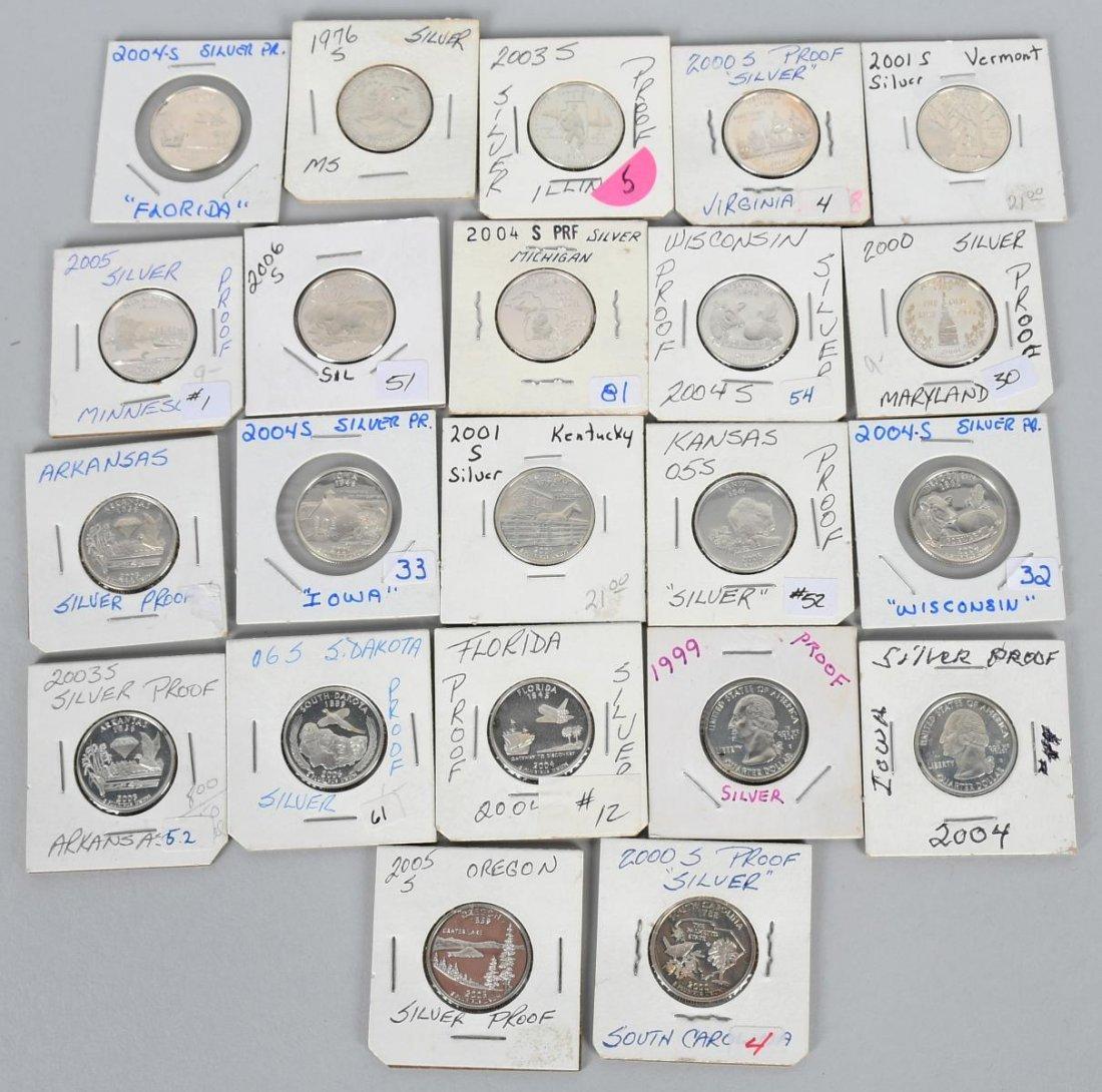 22-SILVER WASHINGTON QUARTERS 1976-2006
