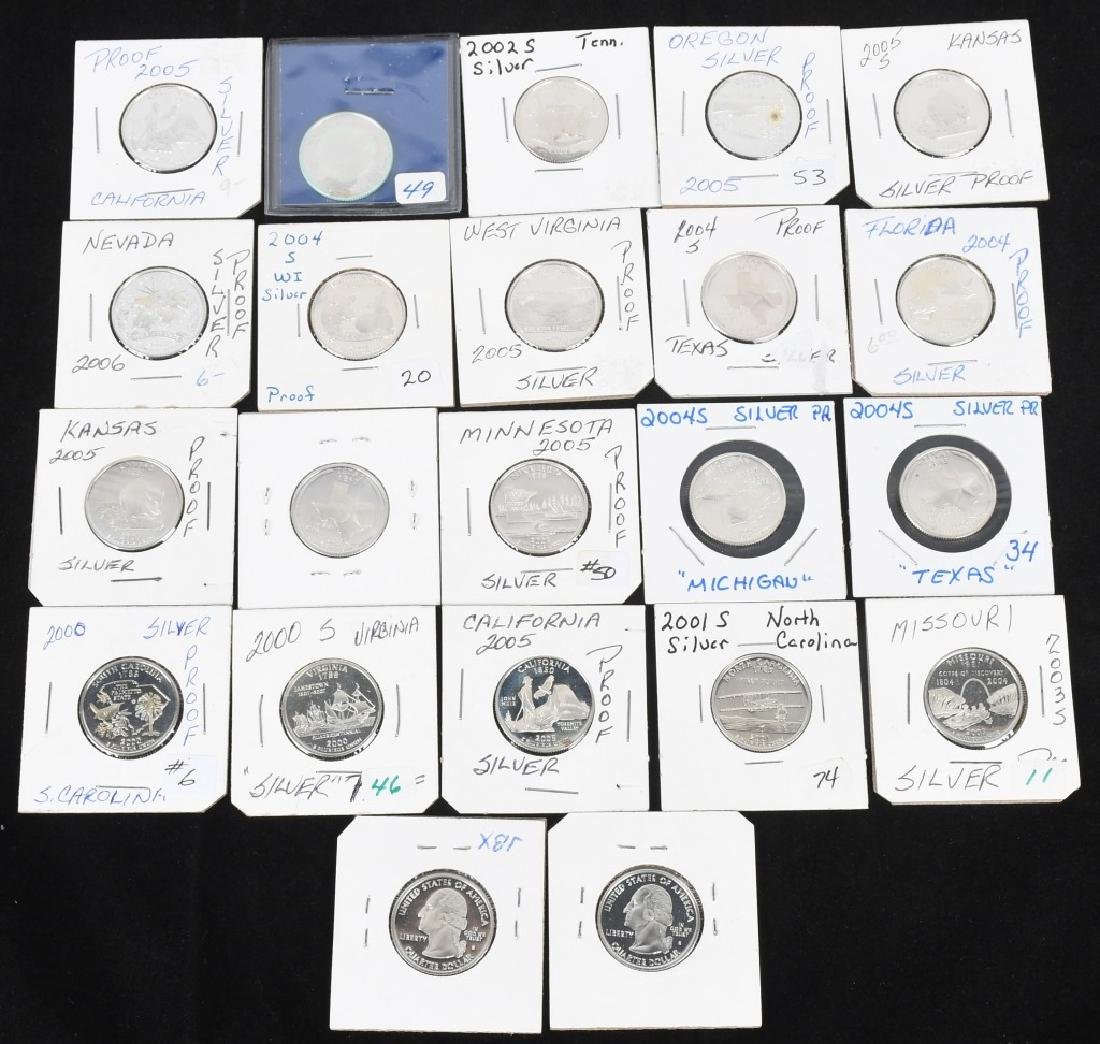 22-SILVER WASHINGTON QUARTERS 2000-2006