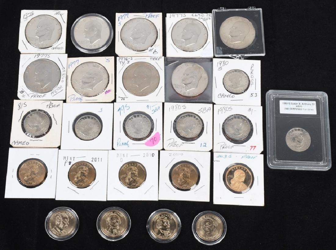 25- U.S. DOLLARS, IKE, SUSAN B. ANTHONY & MORE