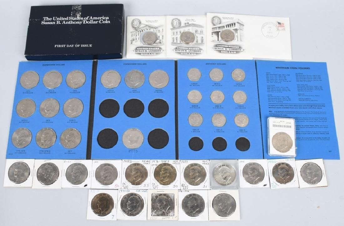 39-U.S. DOLLARS IKES & SUSAN B. ANTHONY 1971-1981