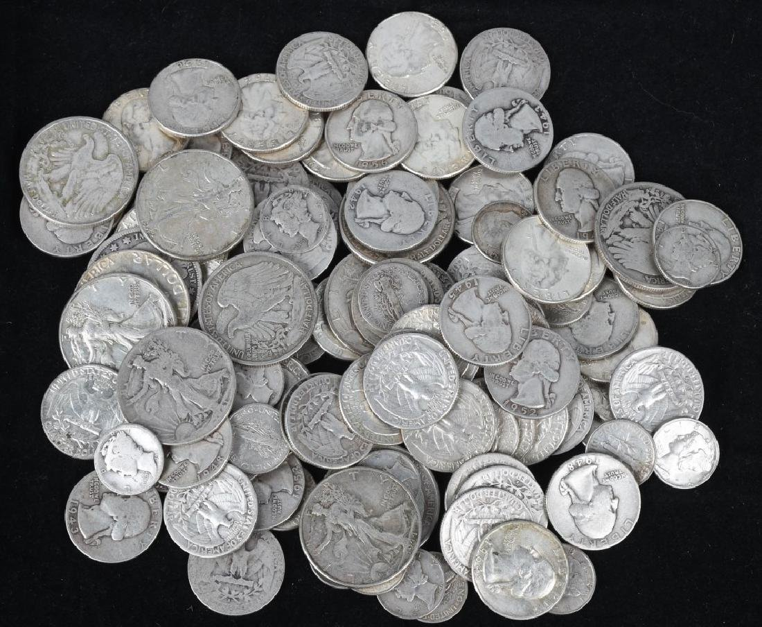 $35.90 US 90% SILVER COIN LOT 1/2 1/4 & DIMES
