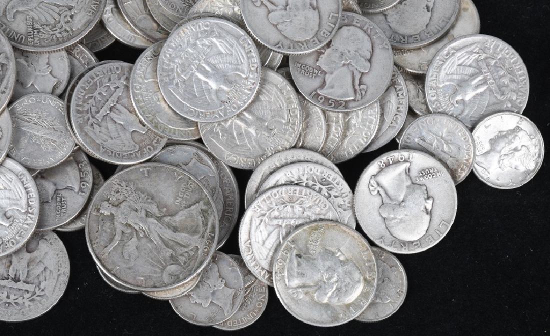 $35.90 US 90% SILVER COIN LOT 1/2 1/4 & DIMES - 2