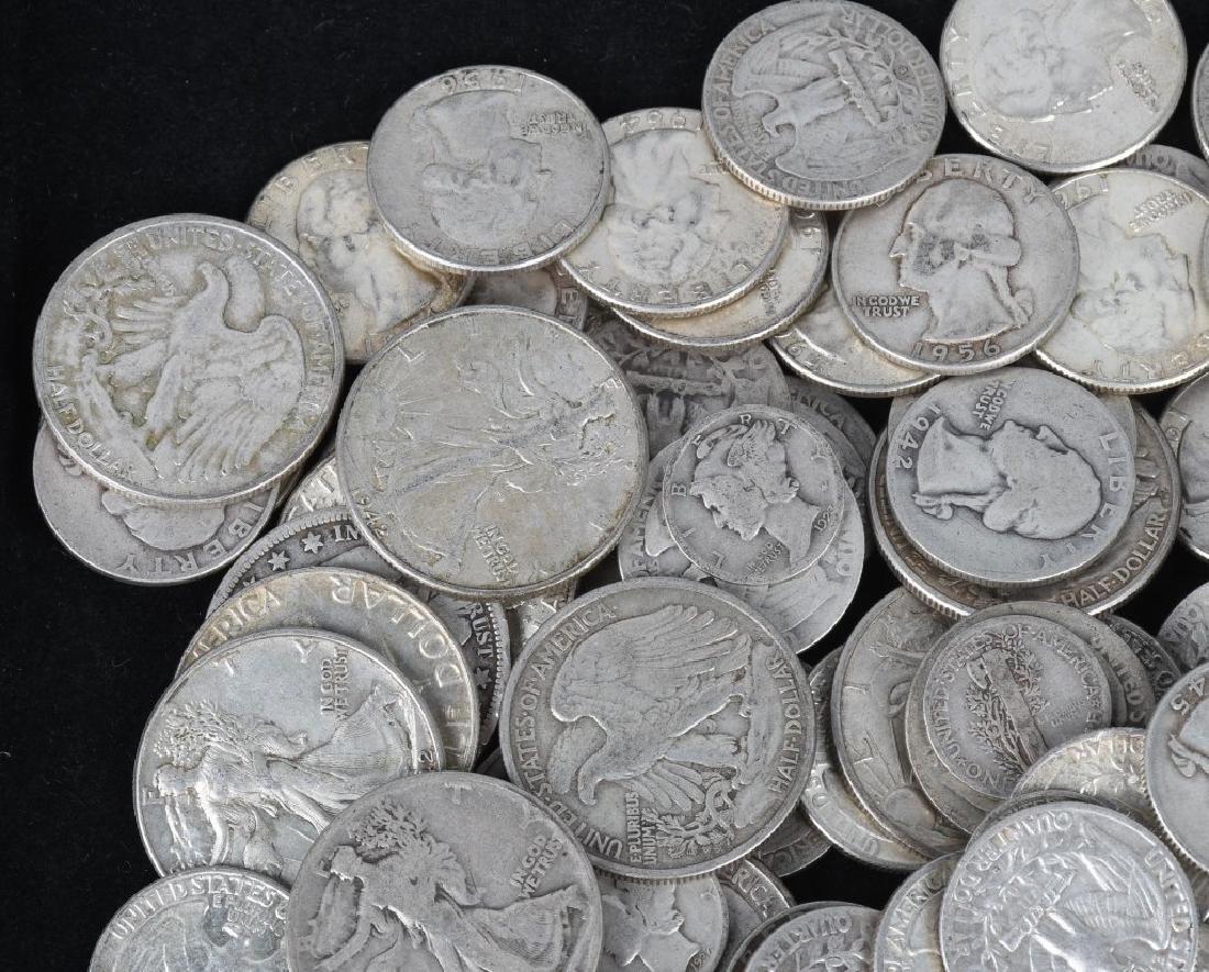 $35.90 US 90% SILVER COIN LOT 1/2 1/4 & DIMES - 3