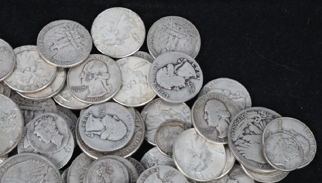 $35.90 US 90% SILVER COIN LOT 1/2 1/4 & DIMES - 4