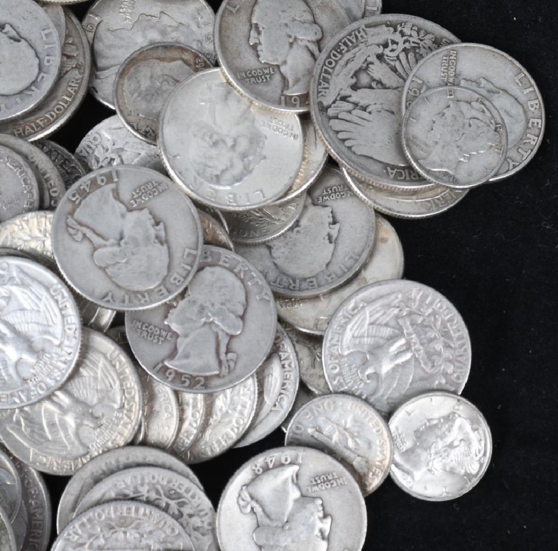 $35.90 US 90% SILVER COIN LOT 1/2 1/4 & DIMES - 5