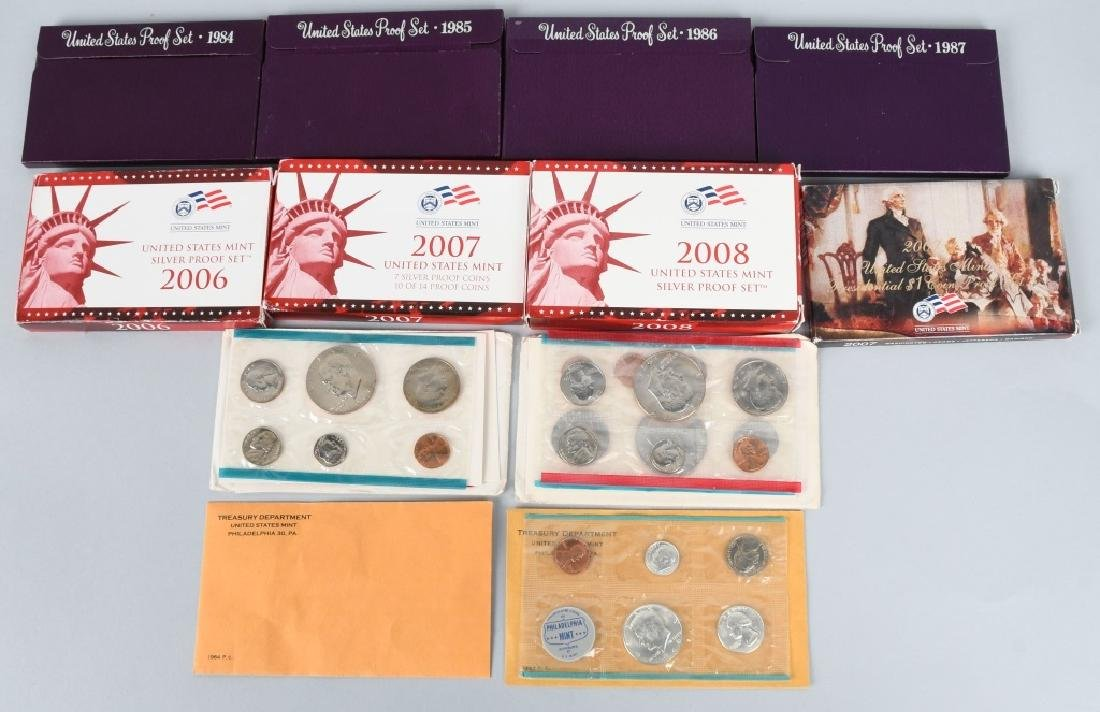 US PROOF & MINT COIN LOT, 1964-2008