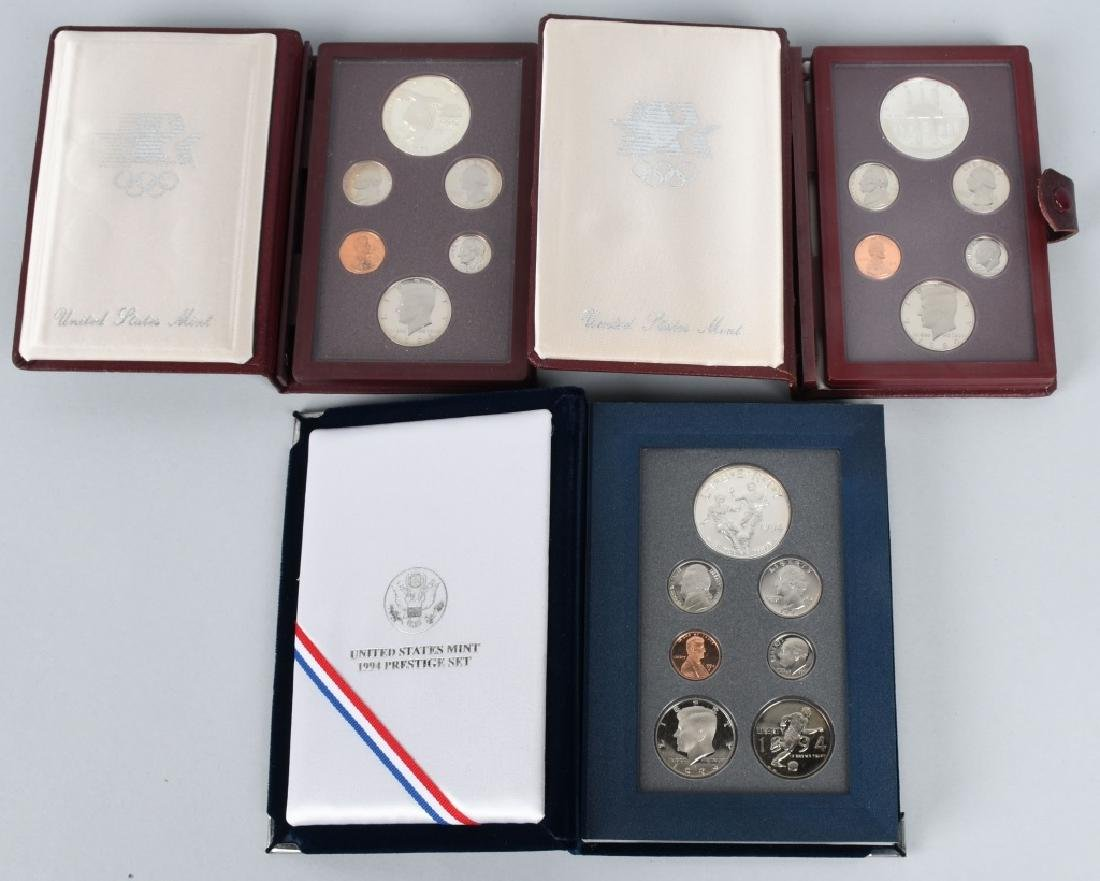 3-US MINT PRESTIGE SETS, 1983, 1984 & 1994