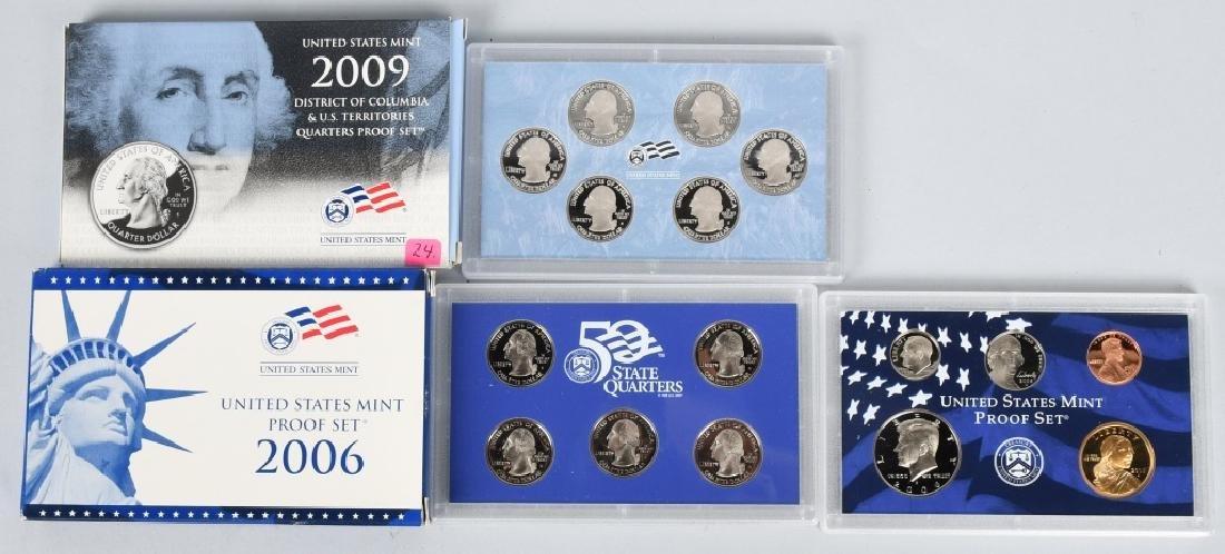 25-US PROOF SETS, MINT SETS & QUARTERS 1978-2009 - 3