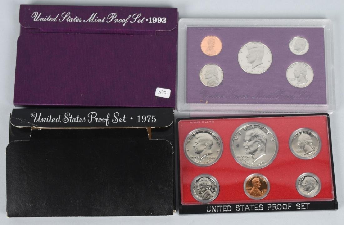 25-US PROOF SETS, & QUARTERS 1973-2006 - 2