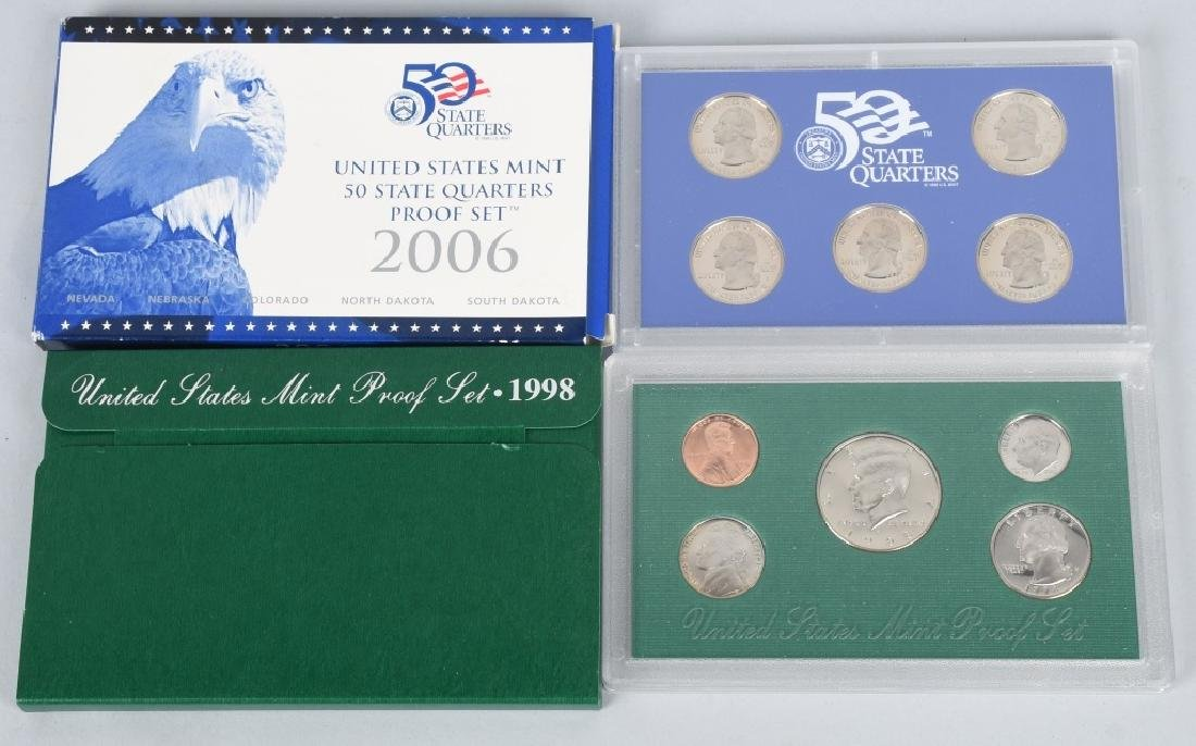 25-US PROOF SETS, & QUARTERS 1973-2006 - 3