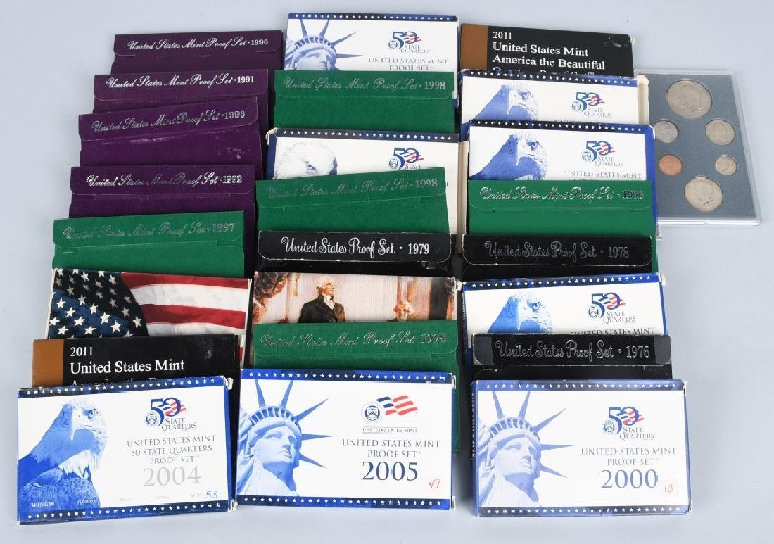 25-US PROOF SETS, & QUARTERS 1978-2011