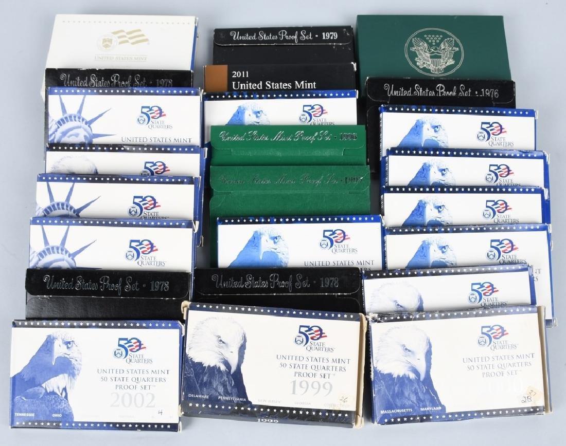 25-US PROOF SETS, MINT SETS & QUARTERS 1978-2011