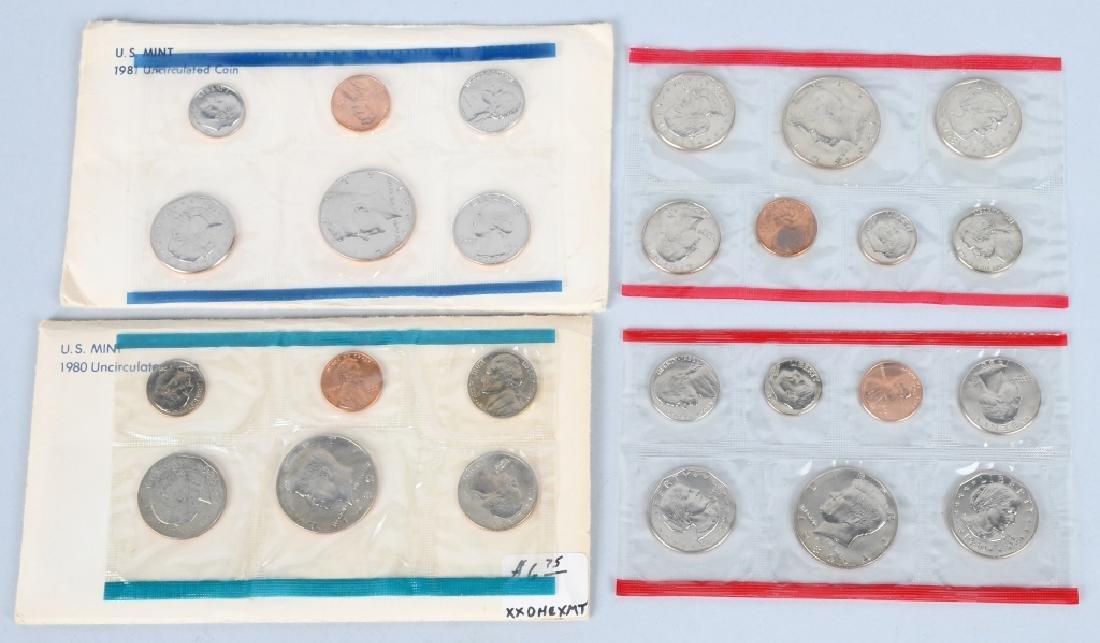 25-US UNCIRCULATED MINT SETS 1980-1996 - 2