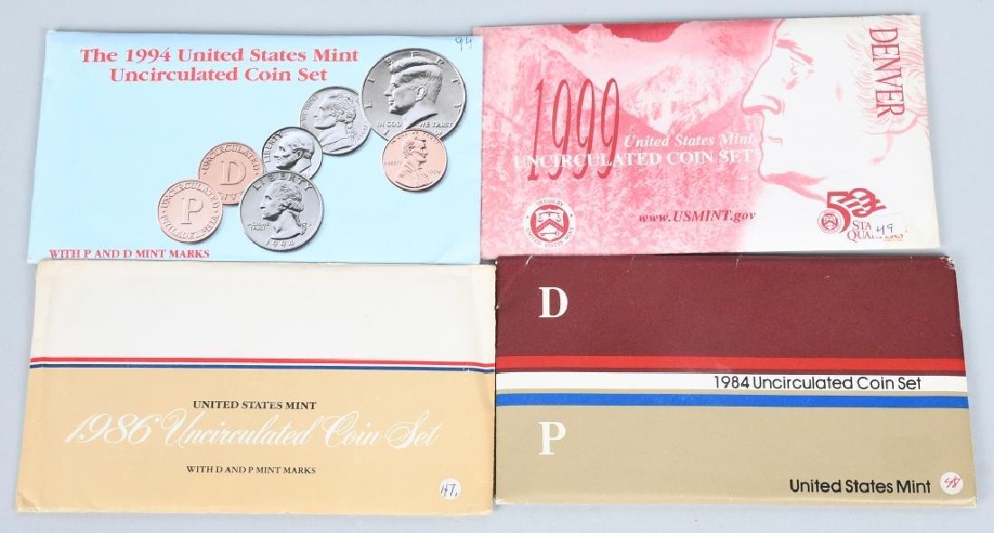 25-US UNCIRCULATED MINT SETS 1974-1999 - 3