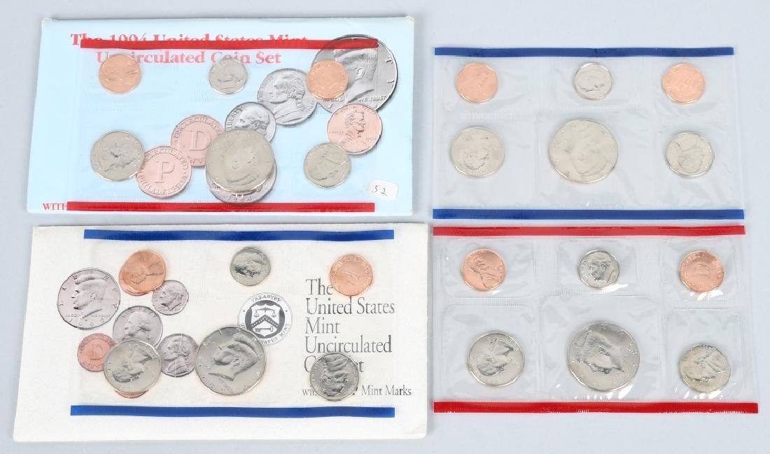 25-US UNCIRCULATED MINT SETS 1974-1999 - 4