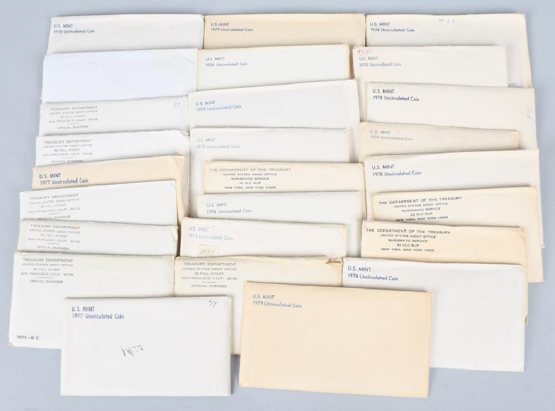 26-US UNCIRCULATED MINT SETS 1971-1979