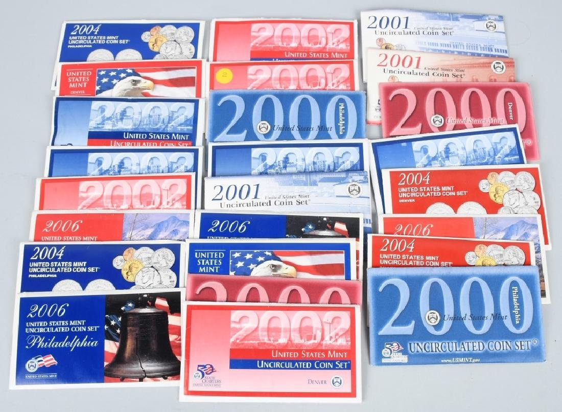 25-US UNCIRCULATED MINT SETS 2000-2006