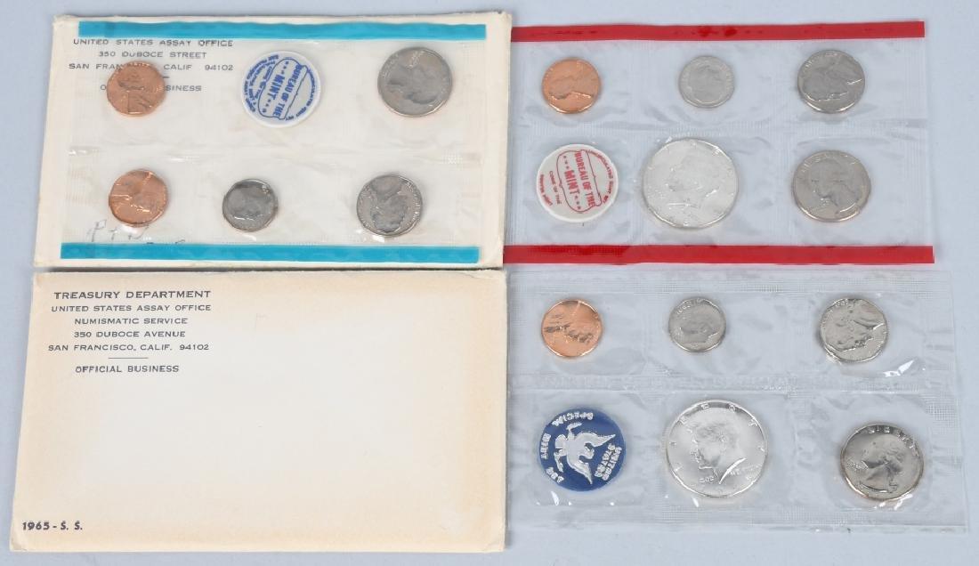 13-40% SILVER U.S. MINT SETS, 1965-1969 - 2