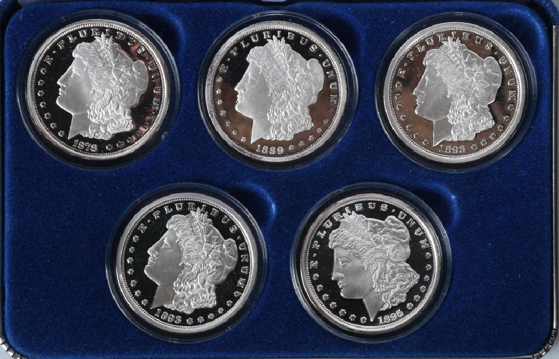 5-NATIONAL COLL. MINT PROOF SILVER DOLLARS & MORE - 2