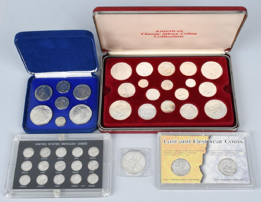 4- US SILVER COIN COLLECTOR SETS