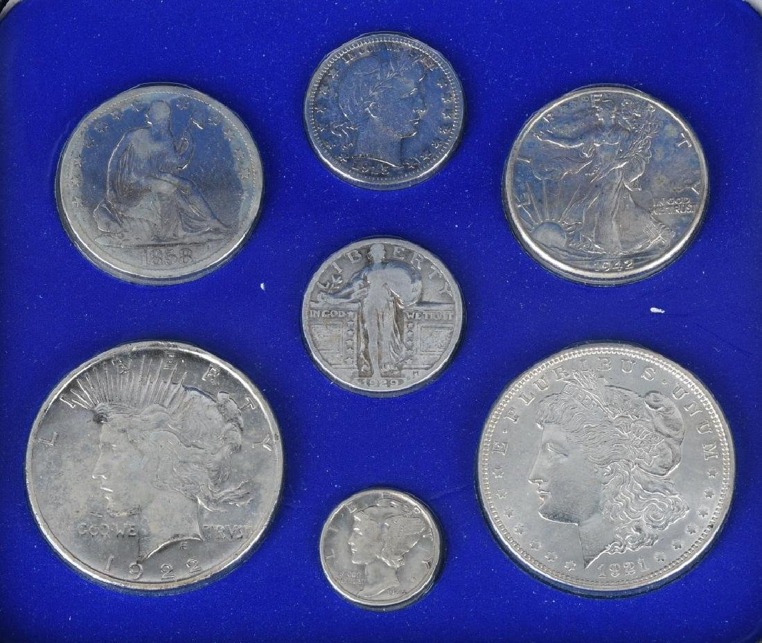 4- US SILVER COIN COLLECTOR SETS - 3