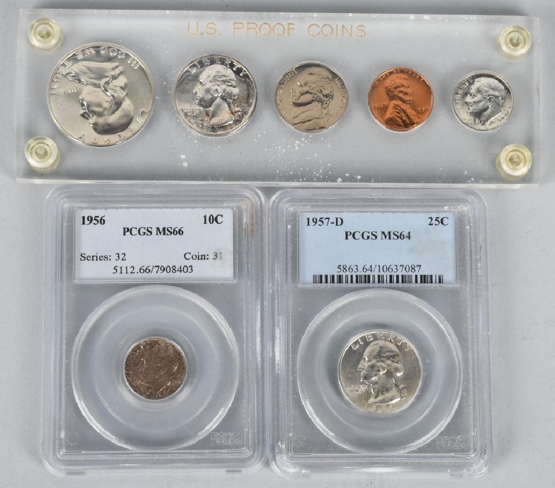 US SILVER COIN LOT incl. PCGS MS66 ++ PROOF