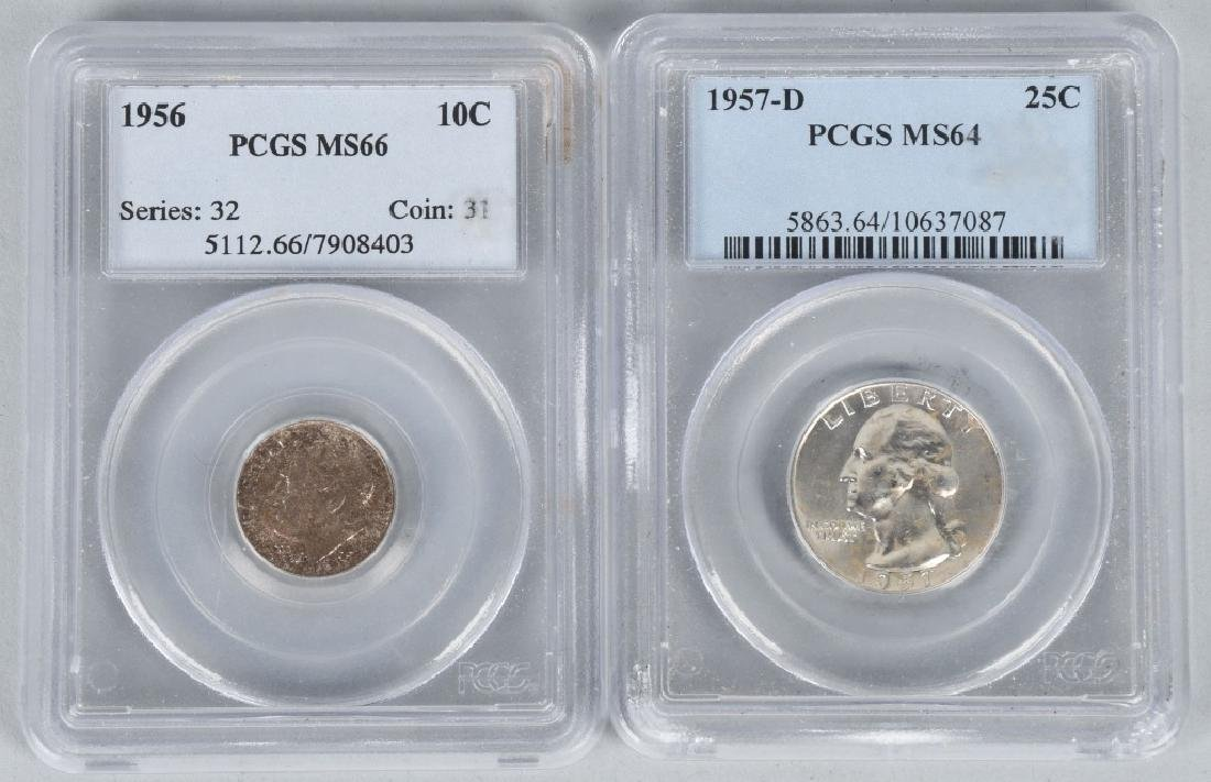 US SILVER COIN LOT incl. PCGS MS66 ++ PROOF - 4