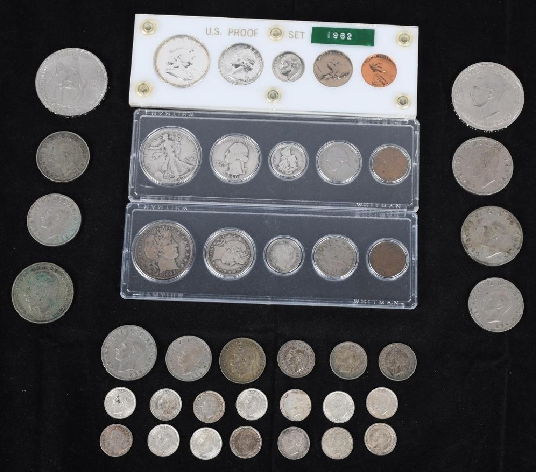 3-US SILVER COIN SETS 1903-1962 & MORE