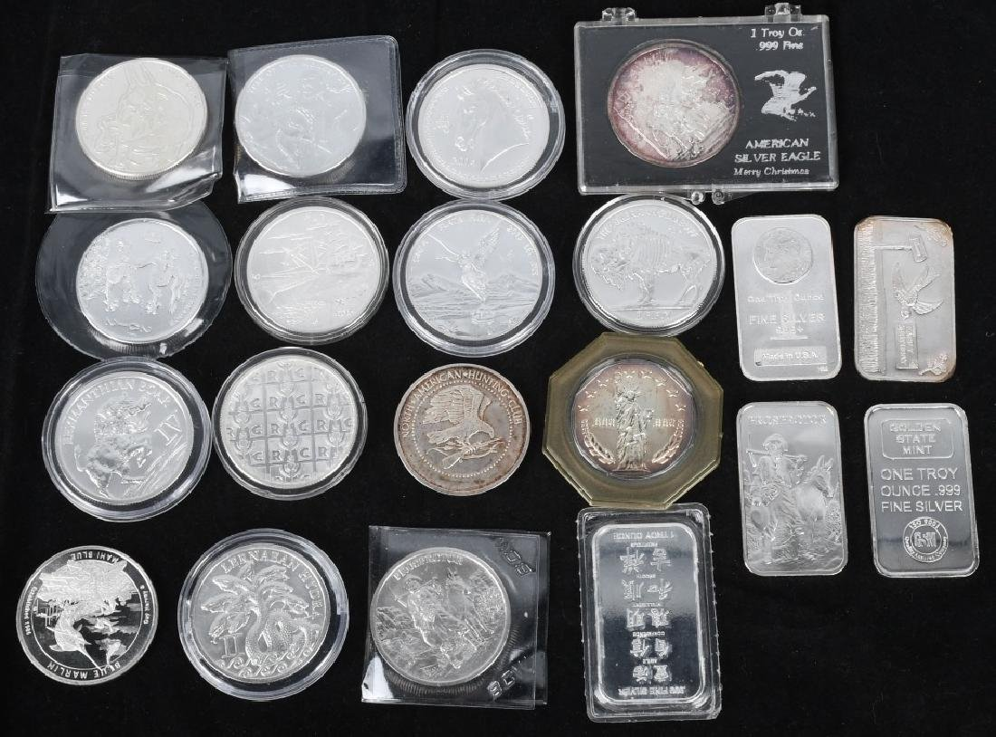 20 OZT .999 SILVER ROUNDS & BARS