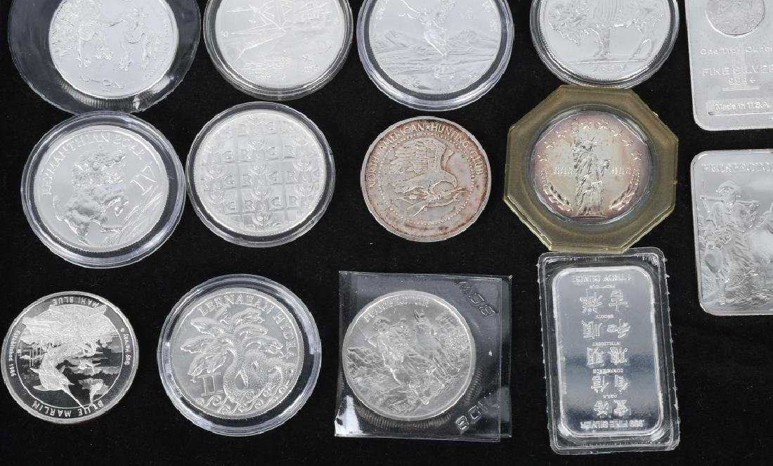 20 OZT .999 SILVER ROUNDS & BARS - 3