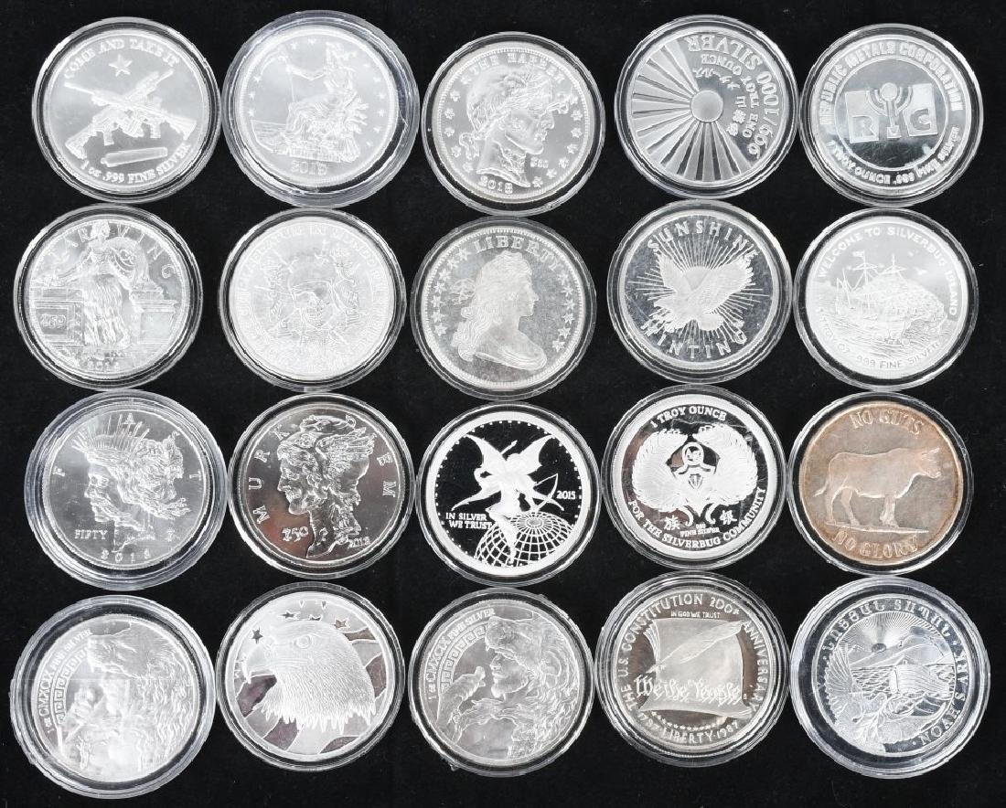 20 OZT OF .999 SILVER ROUNDS