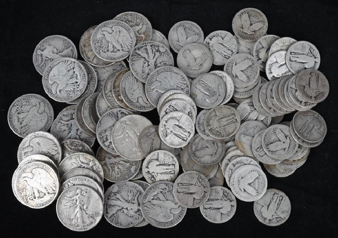 $35.25 US 90% WALKING LIBERTY SILVER COINS