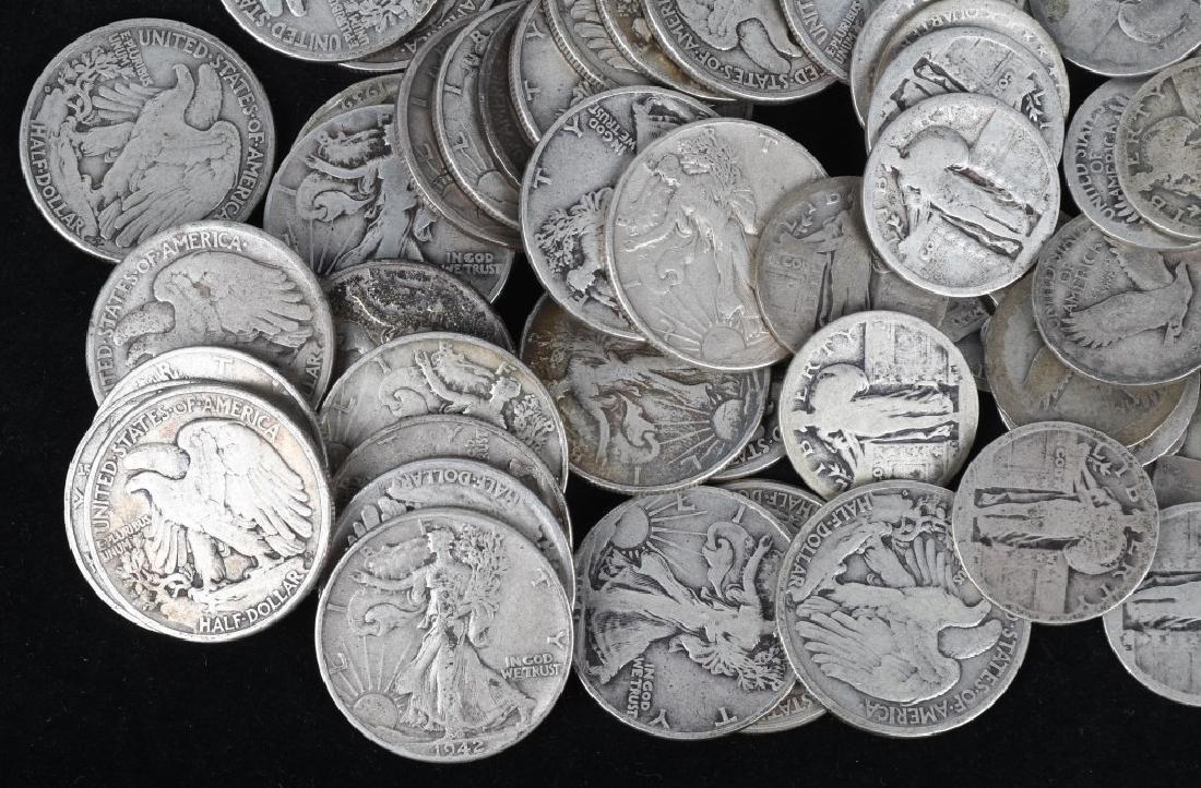 $35.25 US 90% WALKING LIBERTY SILVER COINS - 2