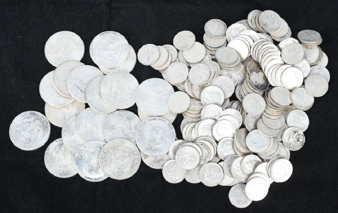 $30 US 90% SILVER COINS HALVES AND DIMES