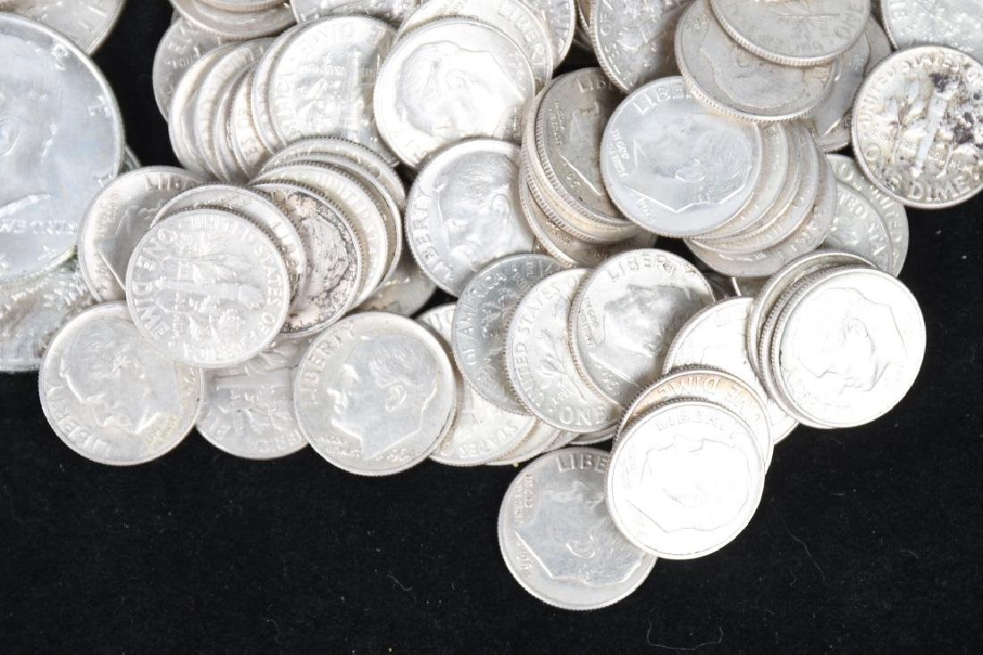 $30 US 90% SILVER COINS HALVES AND DIMES - 3