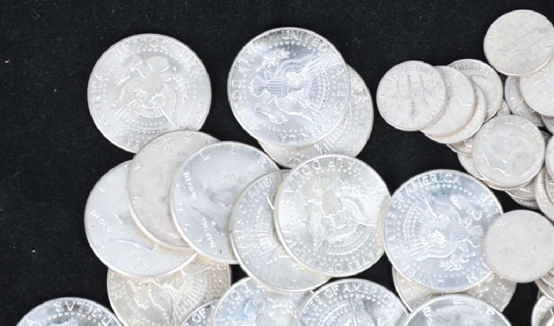 $30 US 90% SILVER COINS HALVES AND DIMES - 5