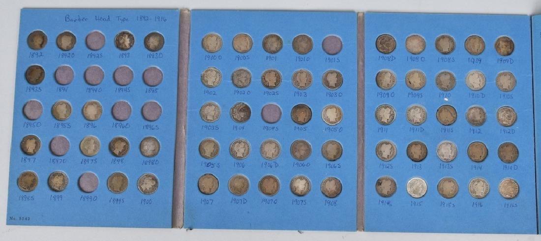 63-90% SILVER BARBER DIMES, 1892-1916