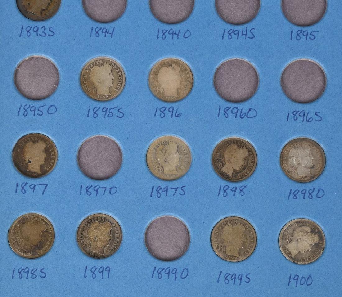63-90% SILVER BARBER DIMES, 1892-1916 - 3